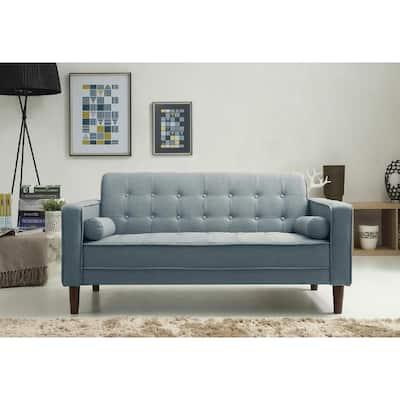 Nolan Blue Loveseat Sofa