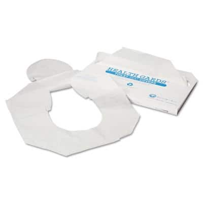 Health Gards White Half-Fold Toilet Seat Covers (250-Pack, 4-Packs per Carton)