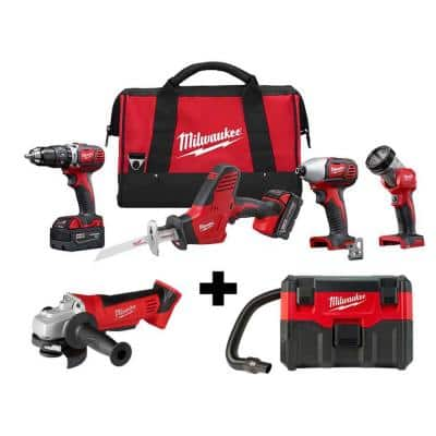 M18 18-Volt Lithium-Ion Cordless Combo Tool Kit (4-Tool) with M18 4-1/2 in. Cut-Off/Grinder and Wet/Dry Vacuum