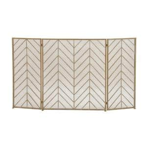 Home and Hearth 3-Panel Tin Fire Screen