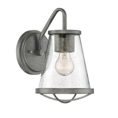 Darby 1-Light Weathered Iron Outdoor Wall Lantern Sconce