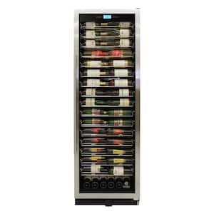 24 in. W 141-Bottle Single-Zone Wine Cooler in Stainless