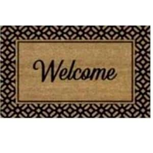 Welcome Border Printed 24 in. x 36 in. Coir Mat