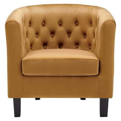Prospect in Cognac Performance Velvet Armchair