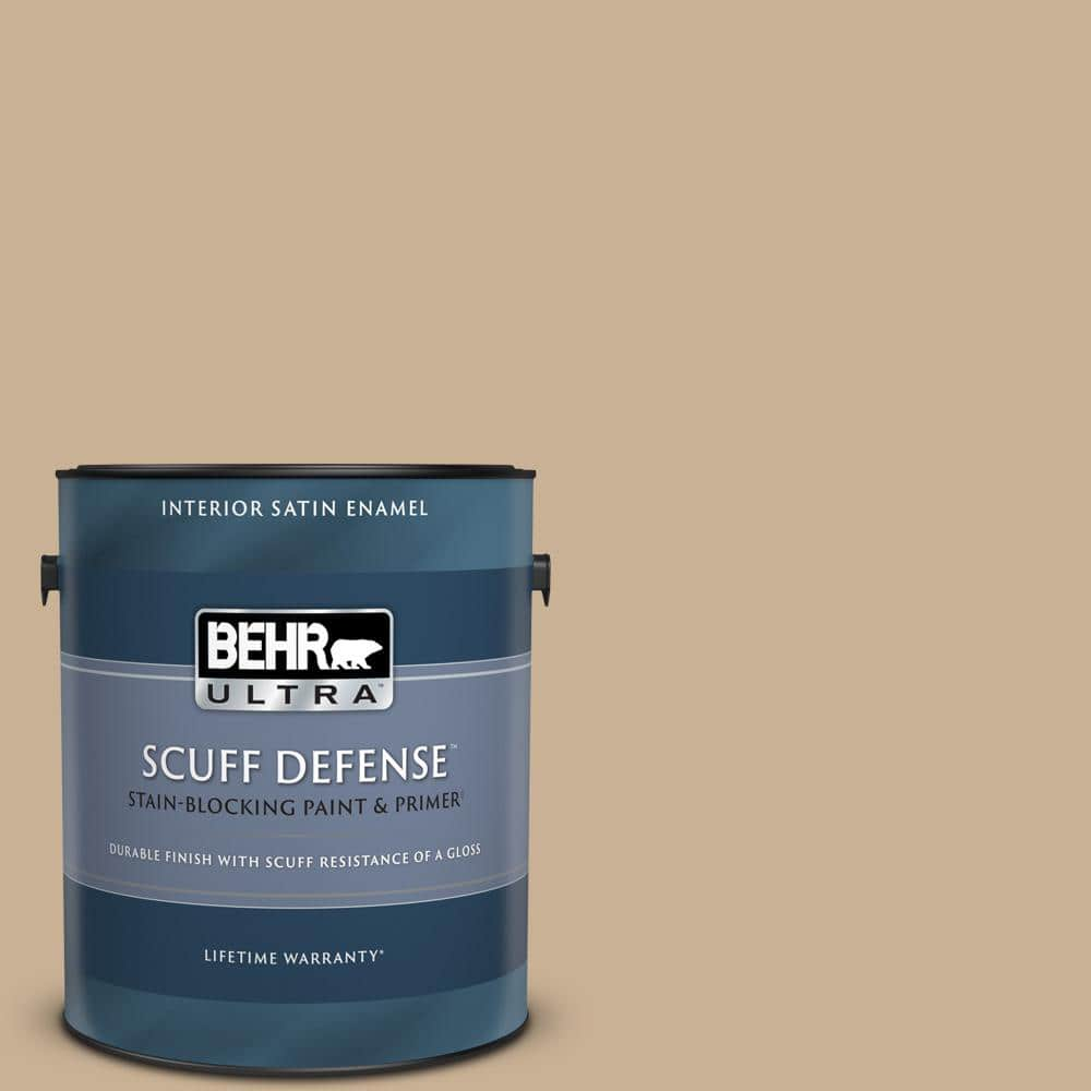 Behr Ultra 1 Gal Mq2 46 Basswood Extra Durable Satin Enamel Interior Paint Primer 775401 The Home Depot