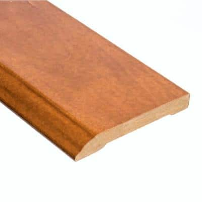 Tigerwood 1/2 in. Thick x 3-1/2 in. Wide x 94 in. Length Wall Base Molding