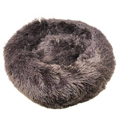 Large Brown Nestler High-Grade Plush and Soft Rounded Dog Bed