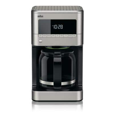 BrewSense 12-Cup Programmable Stainless Steel Drip Coffee Maker with Temperature Control