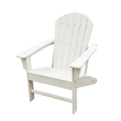 White HDPE Plastic/Resin Adirondack Chair