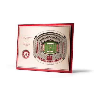 NCAA Alabama Crimson Tide 5-Layer Stadiumviews 3D Wooden Wall Art