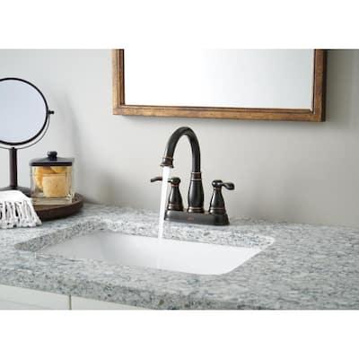 Porter 4 in. Centerset 2-Handle Bathroom Faucet in Oil Rubbed Bronze
