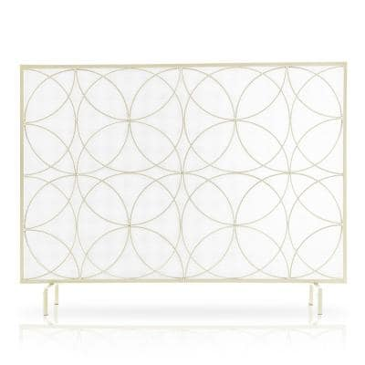 Single Panel Freestanding Fireplace Screen Spark Guard Protector Gate