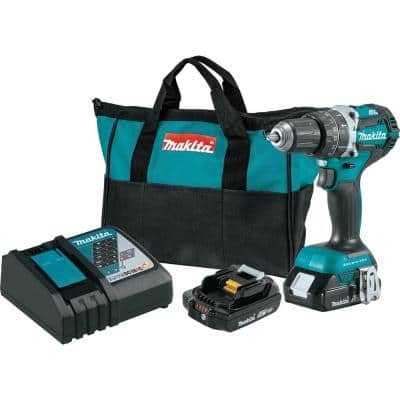 18V LXT Lithium-Ion Compact Brushless Cordless 1/2 in. Hammer Driver-Drill Kit with (2) 2.0Ah Batteries, Charger and Bag