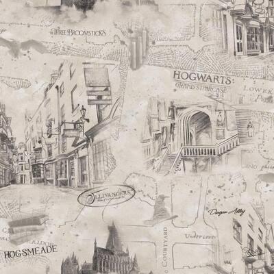 Harry Potter Map Vinyl Peel & Stick Wallpaper Roll (Covers 28.29 Sq. Ft.)