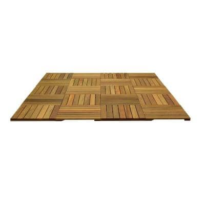 WiseTile 8.3 ft. x 6.6 ft. 55 sq. ft. Solid Hardwood Deck Tile Starter Kit in Ipe Hardwood