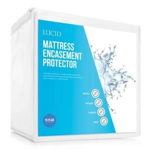 Bed Bug and Waterproof Cotton Blend King Encasement Mattress Protector