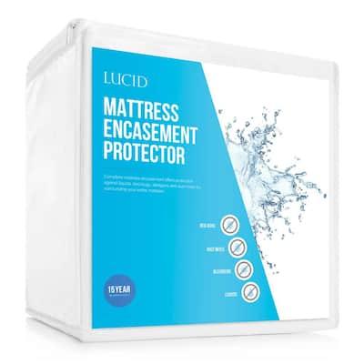 Bed Bug and Waterproof Cotton Blend Twin Encasement Mattress Protector