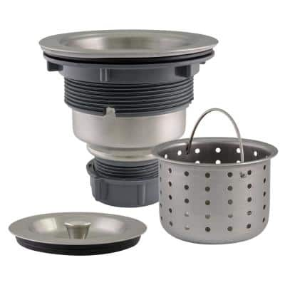 Kitchen Sink Anti-Clogging S304 Stainless Steel Drain Strainer with Deep, Removable Food Waste Catching Basket