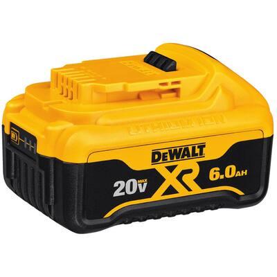 20-Volt MAX XR Premium Lithium-Ion 6.0Ah Battery Pack