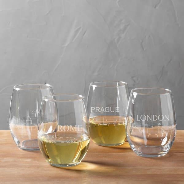 Cityscape stemless wine