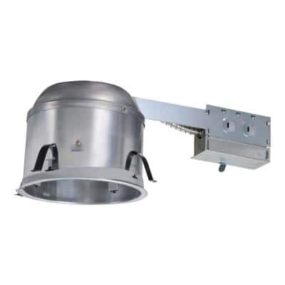 H27 6 in. Aluminum Recessed Lighting Housing for Remodel Shallow Ceiling, Insulation Contact, Air-Tite