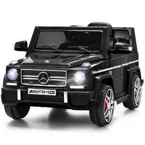 Mercedes Benz G65 Licensed 12-Volt Black Electric Kids Ride On Car RC Remote Control