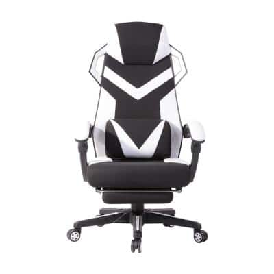 Landuci White Faux Leather Gaming Chair