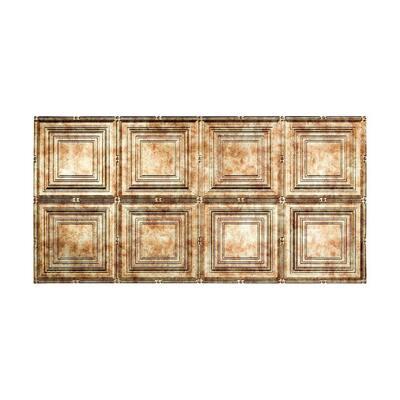 Portrait 2 ft. x 4 ft. Glue Up Vinyl Ceiling Tile in Bermuda Bronze (40 sq. ft.)
