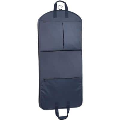 52 in. Navy Garment Bag with Extra Capacity and Accessory Pockets