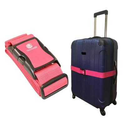 Luggage Strap Solid Color in Pink
