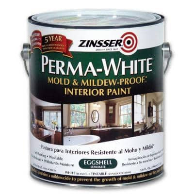 Perma-White 1 gal. Mold & Mildew-Proof Eggshell Interior Paint (2-Pack)