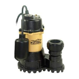 1/3 HP Submersible Sump Pump with Tethered Switch