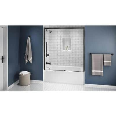 PROJECTA 60 in. x 30 in. Acrylic Left-Hand Drain Rectangular Low-Profile Skirted Alcove Whirlpool Bathtub in White