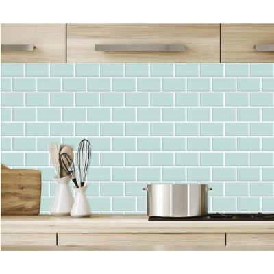 Thicker Version 12 in. x 12 in. 3D Subway Design Peel and Stick Peelable Glossy Backsplash Tile (Set of 20-Piece)