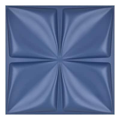 19.7 in. x 19.7 in. Maple Leaf Navy Blue Waterproof PVC 3D Wall Panel (32 sq.ft./ Box)