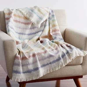 Tie Dye Multicolored Cotton Summer Throw Blanket