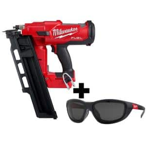M18 FUEL 3-1/2 in. 18-Volt 21-Degree Lithium-Ion Brushless Framing Nailer and Polarized Tinted Safety Glasses w/ Gasket