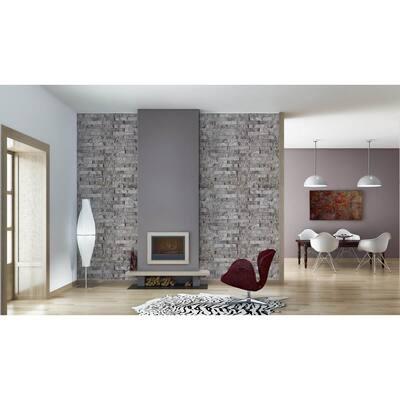 Light Gray Vinyl Peel & Stick Moisture Resistant Wallpaper Roll (Covers 32.3 Sq. Ft.)