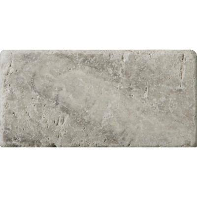 Trav Ancient Tumbled Silver 2.95 in. x 5.91 in. Travertine Wall Tile