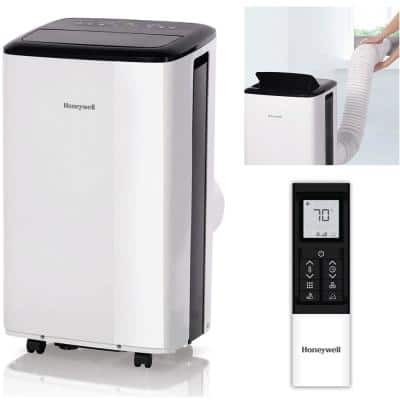 10,000 BTU Portable Air Conditioner with Dehumidifier in Black and White
