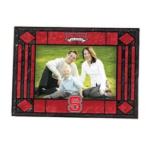 4 in. x 6 in. North Carolina State Gloss Multi Color Art Glass Picture Frame