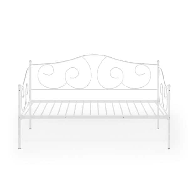 Furinno Angeland Carca White Metal Daybed Fdb222t Wh The Home Depot