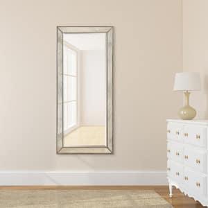 Medium Rectangle Champagne Beveled Glass Classic Mirror (24 in. H x 54 in. W)