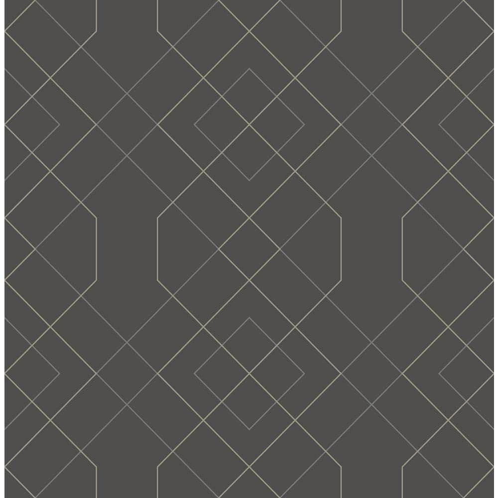 Scott Living Ballard Grey Geometric Grey Paper Strippable Roll Covers 56 4 Sq Ft 2964 25912 The Home Depot