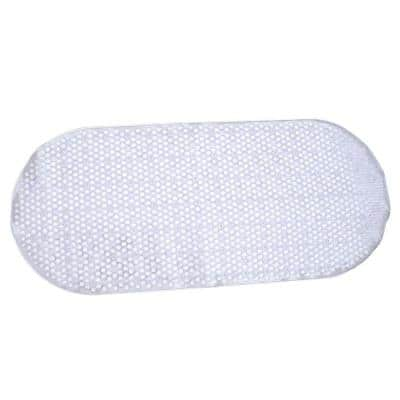 15 in. x 35 in. Bubble Bath Mat with Microban in Clear