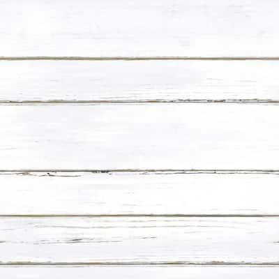 Shiplap White Vinyl Peel & Stick Wallpaper Roll (Covers 28.18 Sq. Ft.)