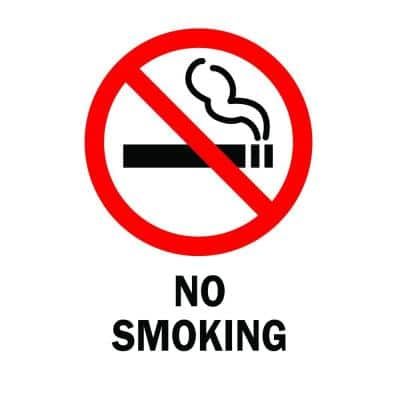 14 in. x 10 in. Plastic No Smoking Safety Sign
