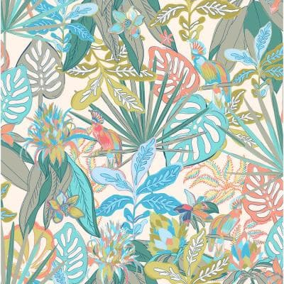 Pink Rain Forest Canopy Peel and Stick Wallpaper