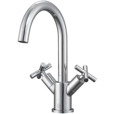 Ava Single Hole 2-Handle Bathroom Faucet in Chrome