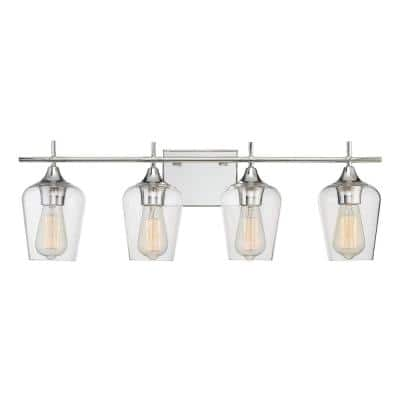 4-Light Polished Chrome Bath Light